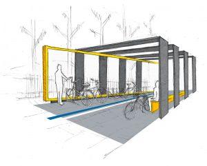 Proyecto de marquesina para bicicletas y motos